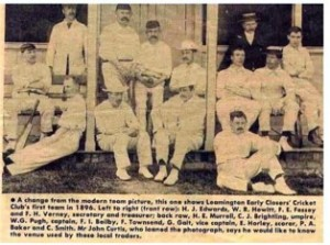 Photo courtesy of Rose Gulot, whose father, WG Pugh, was a stalwart of the Early Closers XI