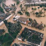 1998: Aerial photo of the floods