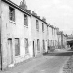 Albion Row at theend of Wise Street; demolished in 1957. Courtesy Windows on Warwickshire