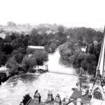 1932: the flooded river from behind the Parish Church.