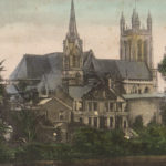 1906: All Saints Parish Church and some of the houses on the river side of Priory Terrace.