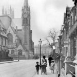 1900 - 1909: a view of Priory Terrace with All Saints Church at the end of the street.