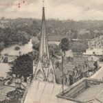 Around 1900: view from All Saints church tower, looking along Priory Terrace.