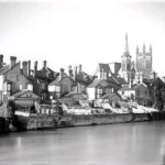 1938: the houses on Priory Terrace backing onto the River Leam.