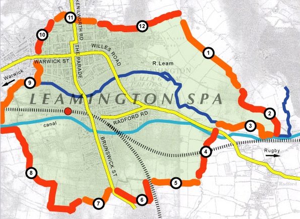 Leamington Parish Boundaries