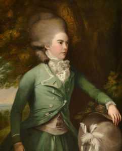 Jane Duchess of Gordon in green riding dress, by Daniel Gardner, c 1775