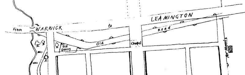 The old and the new road to Warwick, copied from a plan of 1821