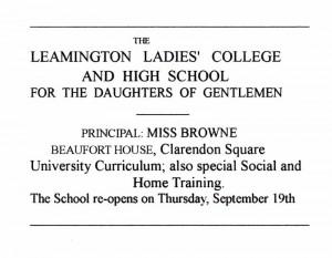 Leamington Ladies' College and High School