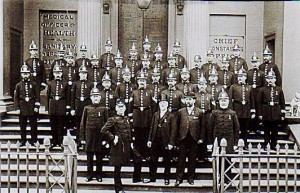Inspector Edwards, far right, front row