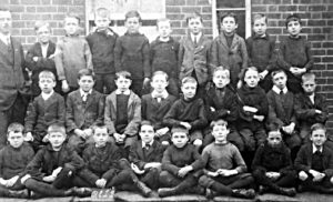 Henry is front row third from the right in this St Peter's school group (St Peter's church, Leamington Spa)