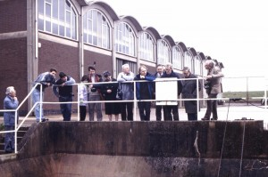 Campion Hills Treatment Works, 1992, with Peter and Helen Coulls, Derek Billings, Jo Clark, and Peter Chater