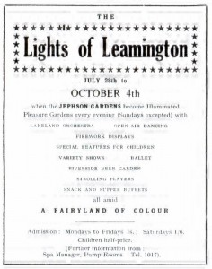 Lights of Leamington: Programme