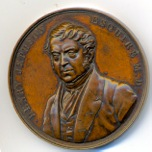 Jephson Medallion struck to commemorate the opening in 1846 of the gardens which bear  the ilustrious Doctor's name