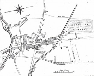 Leamington 1818, showing site of Ranelagh Gardens