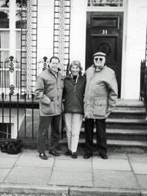 'Butch' Buccellato (right) with Pamela and her half-brother Paul Buccellato at 31 Lansdowne Crescent in 1999
