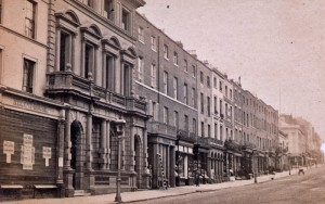 The new bank building frontage from a photograph of the 1860's