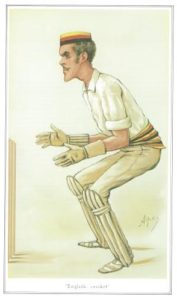 The Hon Alfred Lyttleton keeping wicket