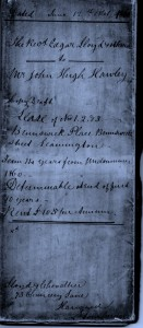 Draft Lease dated 1861, Courtesy Alan Griffin archive