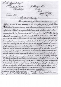Memorandum, Courtesy Alan Griffin archive