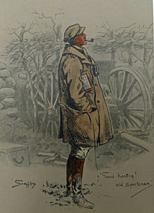 The Gunner painted during his time working for The Graphic in 1916 shows an artillery officer alongside an 18 pounder gun