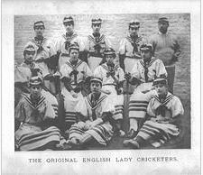 The Original  English Lady Cricketers, © J Lilliwhite's Album 1890