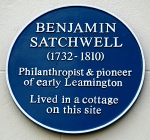 Ben Satchwell Blue Plaque Courtesy of Allan Jennings