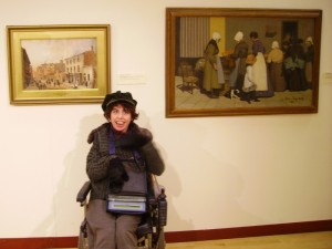 Becky with 'Breton Market' at the Art Gallery