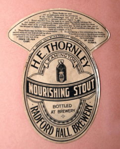 Thornley's Label, photo Allan Jennings