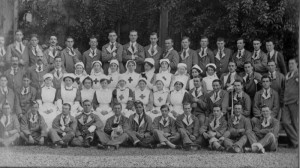 Mrs Fowler, centre, 2nd row, Weddington Hall VAD Hospital