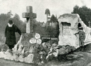 Turnerelli visiting the site of his grave in Leamington Cemetery