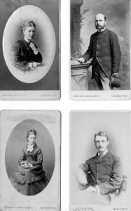 Graham Cartes de Visite, inc bottom right, Frank Glover, sometime owner of Leamington Courier © Alan Griffin