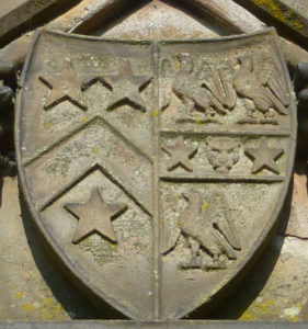 The Arms of the Willes family on the Willes Road Bridge