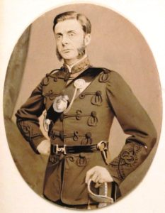 Captain Harry Gem in Birmingham Rifle Volunteer Corps uniform 1868