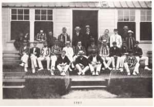 LCC outside the Cundall pavilion, 1903 (K R Rayner)