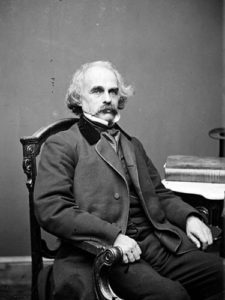 Nathaniel Hawthorne in the early 1860s, shortly after his stay in Leamington.