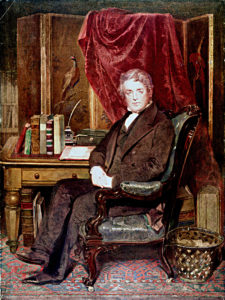 Portrait of Dr Jephson in his consulting room at Beech Lawn, painted June 1850 by John Bostock