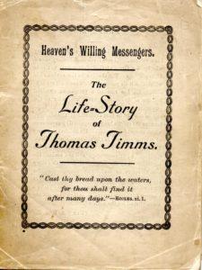 Thomas Timms' Memoir