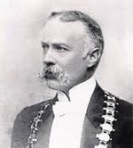 Joseph Hinks, as Mayor of Leamington Spa
