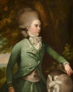 Jane Duchess of Gordon in green riding dress, by Daniel Gardner, c 1775
