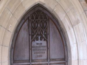 Inscription, St Chad's Church, Bishop's Tachbrook