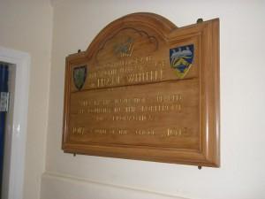 The board at Milverton School, courtesy of Derek Billings