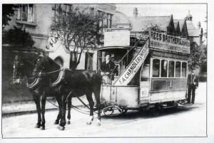 Horse Tram (postcard)