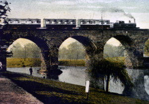 Viaduct across the Leam, circa 1905