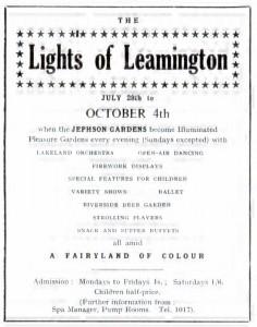 Lights of Leamington: Programme
