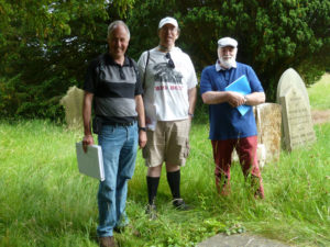 Our guides from left, Allan Jennings, Barry Franklin and Alan Griffin