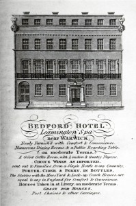 1824 advertisement for the Bedford