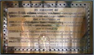 Plaque in Bilton Church