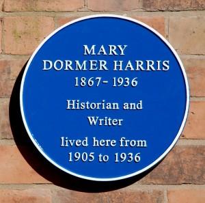 Mary Dormer Harris Blue Plaque. Image copyright Allan Jennings