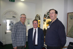 Chris White with Michael Pearson and Barry Franklin