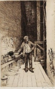 Edwin Toovey, etching by RGH Toovey